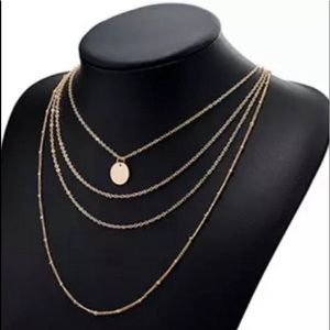 Jewelry - 3/$30 Layered Gold Coin Choker Necklace